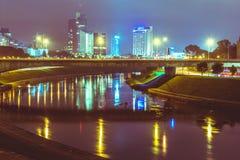 Vilnius night scene royalty free stock photo
