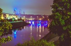 Vilnius night scene stock photos