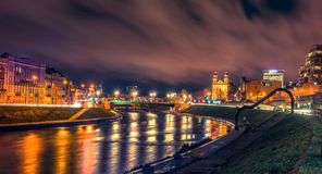 Vilnius night scene Royalty Free Stock Photography