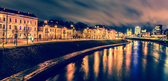 Vilnius night scene Stock Image