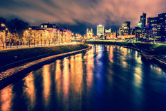 Vilnius night scene Royalty Free Stock Image