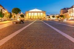 Vilnius. Night Street. Royalty Free Stock Photo
