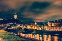 Vilnius noc fotografia stock
