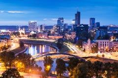 Vilnius nocy scena Fotografia Royalty Free