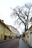Vilnius old city center street view on spring Royalty Free Stock Image