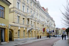 Vilnius old city center street view on spring Stock Photography