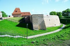 Vilnius old city defense wall on May 8, 2015 Royalty Free Stock Image