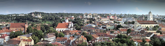 Vilnius old city panorama Royalty Free Stock Images