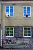 Vilnius street wall Royalty Free Stock Images