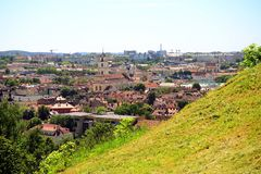 Vilnius old city - UNESCO heritage object view Royalty Free Stock Photography