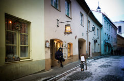 Vilnius old street, Lithuania Royalty Free Stock Photography