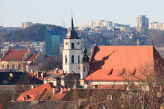 Vilnius old town cityscape royalty free stock photos