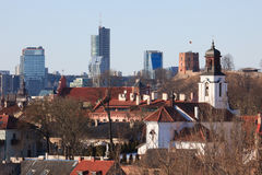 Vilnius old town cityscape Stock Photos