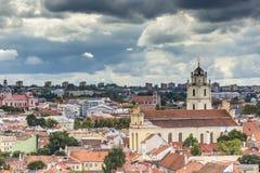 Vilnius old town cityscape, Lithuania Stock Photos