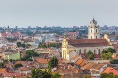 Vilnius old town cityscape, Lithuania Stock Photo