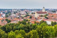 Vilnius old town cityscape, Lithuania Royalty Free Stock Photo