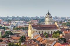 Vilnius old town cityscape, Lithuania Royalty Free Stock Photos