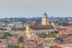 Vilnius old town cityscape, Lithuania Royalty Free Stock Image
