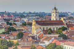 Vilnius old town cityscape, Lithuania Stock Image
