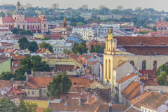 Vilnius old town cityscape, Lithuania Royalty Free Stock Photography