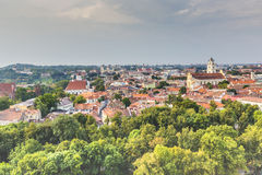 Vilnius old town cityscape, Lithuania Stock Images