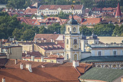 Vilnius old town cityscape, Lithuania Stock Photography