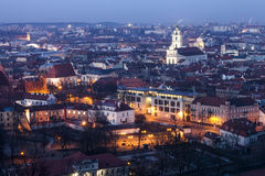 Vilnius Old Town at dawn time Royalty Free Stock Image