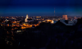 Vilnius Old Town at dawn time Royalty Free Stock Photo