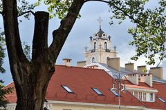 Vilnius old town details. The Old Town of Vilnius one of the largest surviving medieval old towns in Northern Europe royalty free stock photo