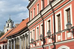 Vilnius old town details. The Old Town of Vilnius one of the largest surviving medieval old towns in Northern Europe stock image