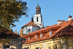 Vilnius old town details. The Old Town of Vilnius one of the largest surviving medieval old towns in Northern Europe stock images
