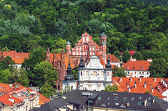 Vilnius old town. Historical UNESCO heritage old town of Vilnius, capital of Lithuania stock images