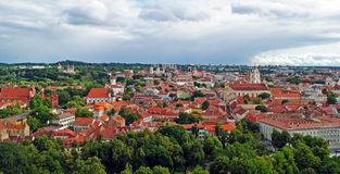 Vilnius old town panorama Stock Photography
