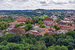 Vilnius old town panorama. Stock Photo