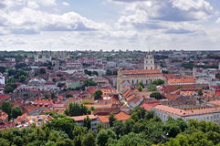 Vilnius old town panorama. Royalty Free Stock Photo