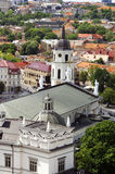 Vilnius old town panorama. Stock Photography