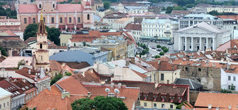 Vilnius old town panoramic view Stock Photos