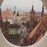 Vilnius old town roofs Royalty Free Stock Photo