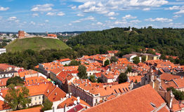 Vilnius Old Town Skyline Stock Images