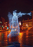 Vilnius Old Town Square decorated for Christmas Stock Photo