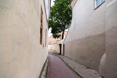Vilnius old town street. Thuania stock photos
