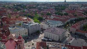 Vilnius old town video stock footage