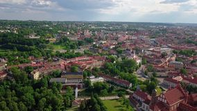 Vilnius old town video stock video footage