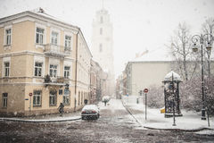 Vilnius old town in winter Royalty Free Stock Image