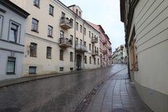 Vilnius oldtown street ,Lithuania Stock Photo