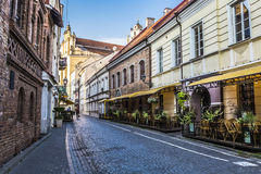 Vilnius oldtown street ,Lithuania Royalty Free Stock Photos