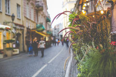 Vilnius oldtown street ,Lithuania Stock Photography