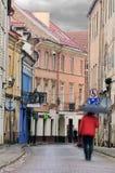 Vilnius oldtown street, motion blur Royalty Free Stock Images