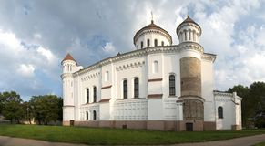 Vilnius Orthodox Cathedral Assumption Virgin Mothe Stock Photography