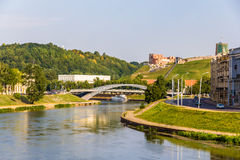 Vilnius over Neris River Stock Photos